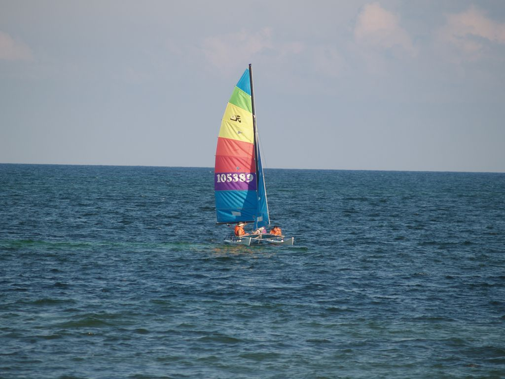 Sailing in Cancun Hobie Cat Catamaran 2